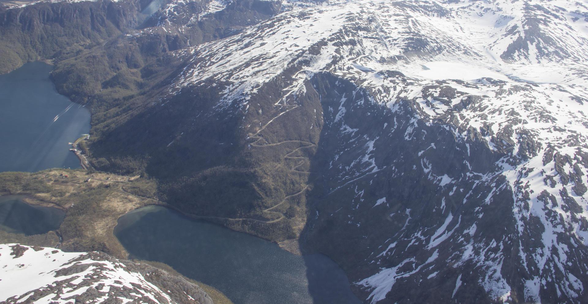 Austerdalen og Sørfjord fra lufta