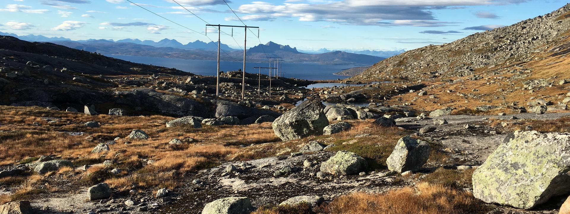 Høyspentmaster ved Ballangen-Tysfjord
