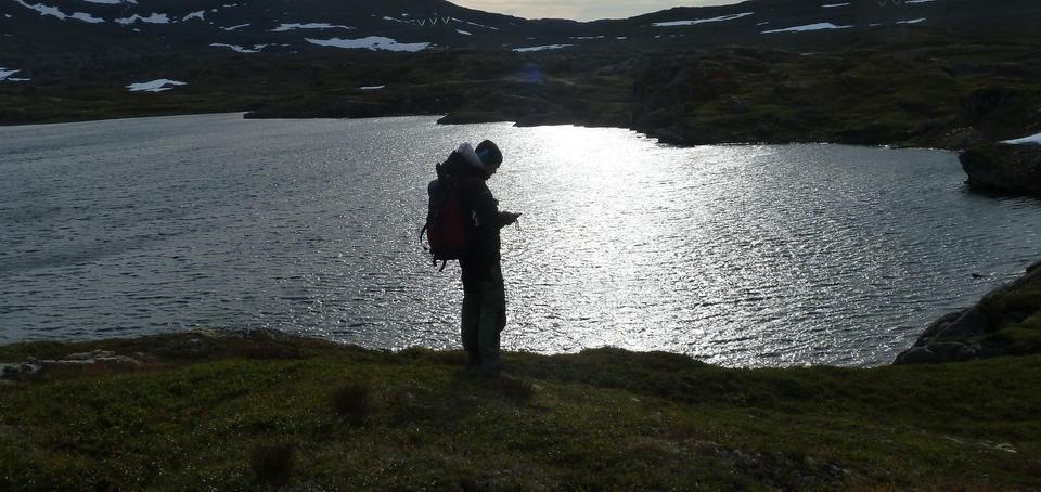 Steffen Henriksen på Sørfjordfjellet